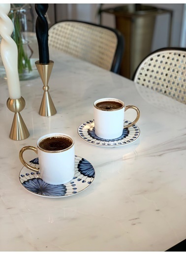 The Mia Dainty Kahve Ve Kahve Yanı Su Bardağı 2 Kişilik  Renkli